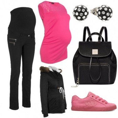 Outfit Premaman rosa