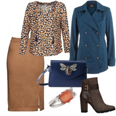 Outfit Il maculato abbinato al blu