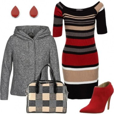 Outfit Righe&quadretti