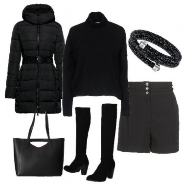 Outfit Total black quotidiano