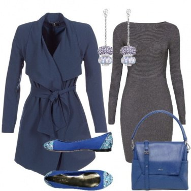 Outfit Trench blu