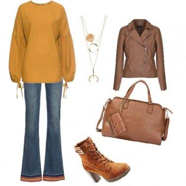 Outfit Autunno tono su tono