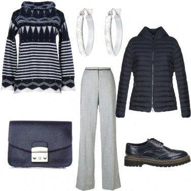 Outfit Bianco & blu