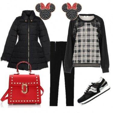Outfit Minnie in bianco e nero