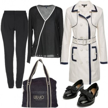 Outfit Bianco e nero ad effetto