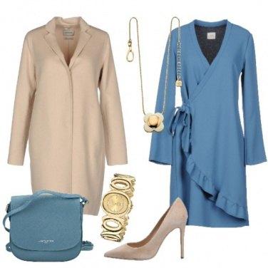 Outfit Vestito a portafoglio con volant