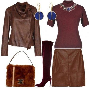 Outfit Castagna e melograna