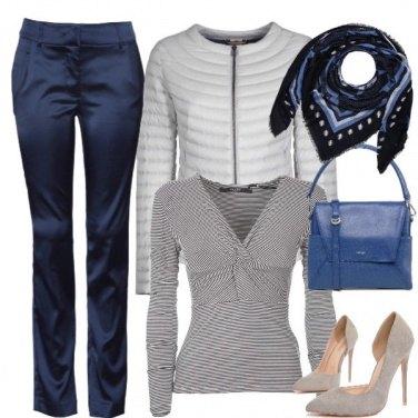 Outfit Foulard e piumino