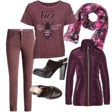 Outfit Bordeaux style