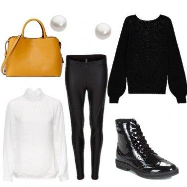 Outfit #Scarpa#Nera#Lucida
