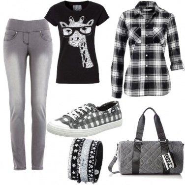 Outfit Tartan e giraffa!