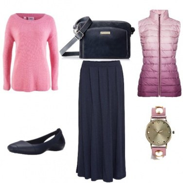 Outfit Rosa autunnale