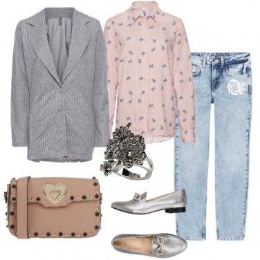 Outfit Blazer gessato
