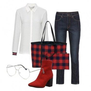 Outfit Quadri e occhiali