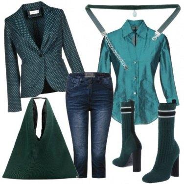 Outfit Verde petrolio