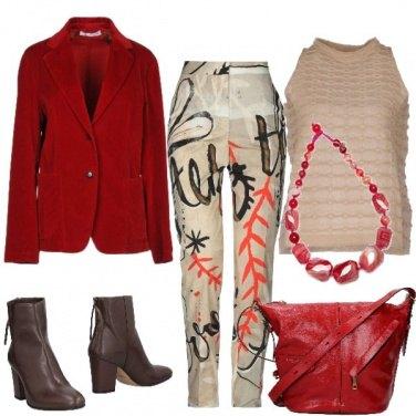 Outfit La giacca rossa di velluto