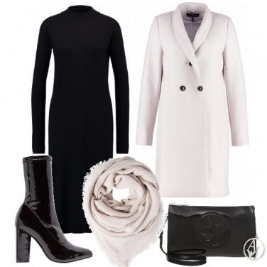 Outfit Nero e gesso