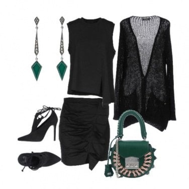Outfit Jade and black in love