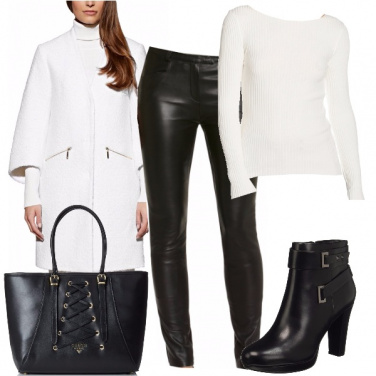 Outfit Bianco e nero grintoso
