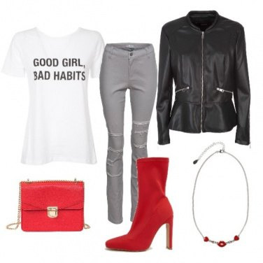 Outfit Stivali rossi