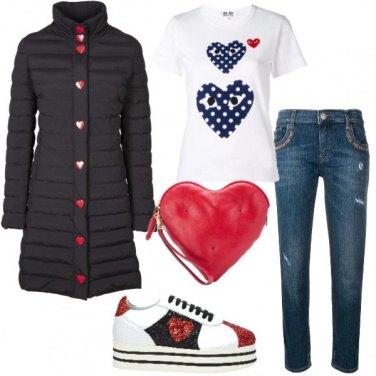 Outfit Cuori che passione