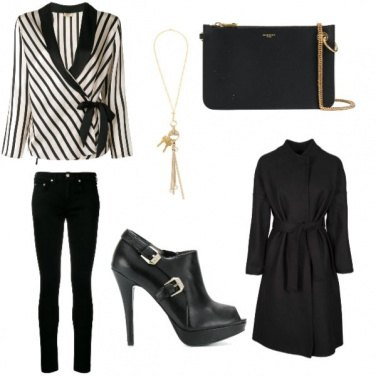 Outfit Righe chic