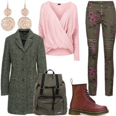 Outfit Rosa militare