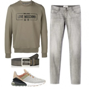 Outfit Grey&green