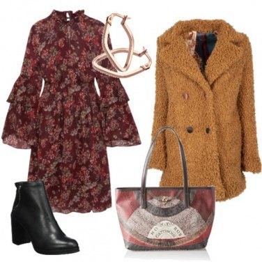 Cappotto in lana cotta con bottoni colorati BRUCIATO  1f719bb9a32a