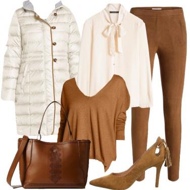 Outfit Si al piumino avorio