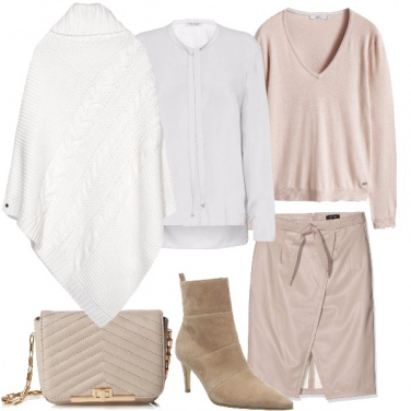 Outfit Aperitivo in rosa e bianco