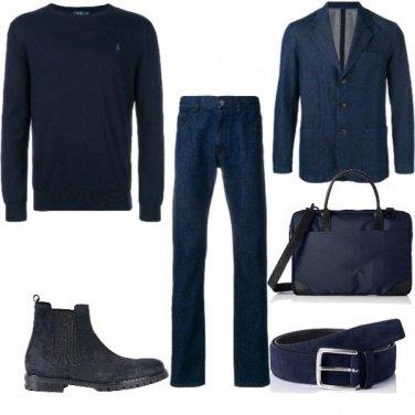 Outfit Blu in ufficio