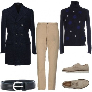 Outfit Dolcevita a pois