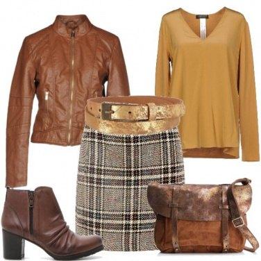 Outfit La minigonna a scozzese