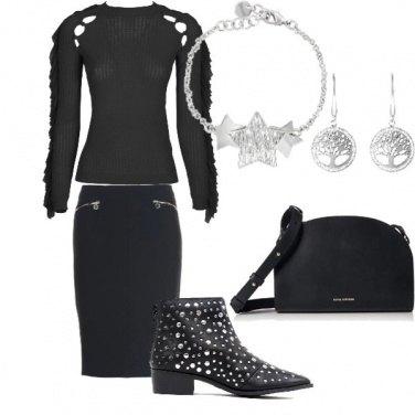 Outfit Total black e acciaio