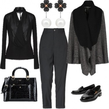 Outfit Elegante in total black
