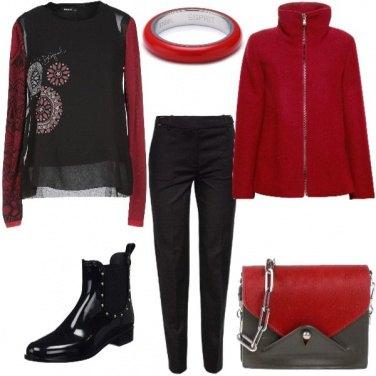 Outfit Rouge et noir