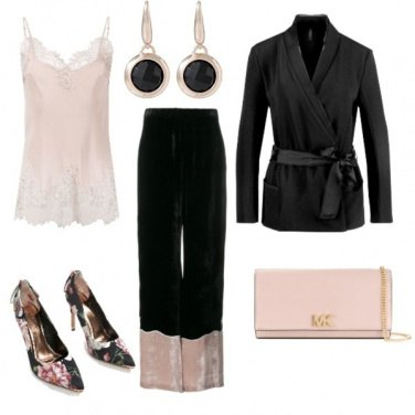 Outfit Nero e rosa elegante