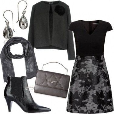 Outfit Black flower
