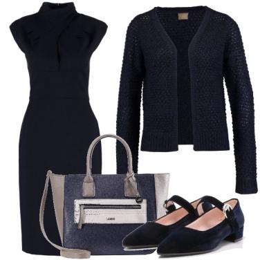 Outfit Semplice in blu