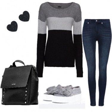 Outfit Giornate grigie ma alla moda
