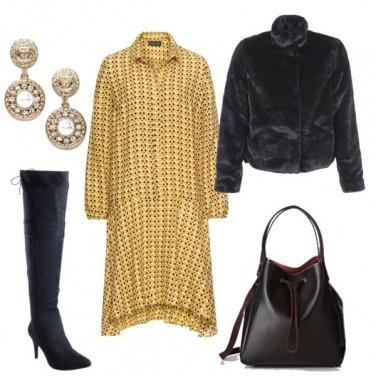 Outfit Abito chemisier e stivali
