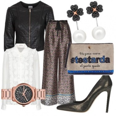 Outfit Glam a vita alta