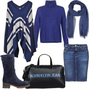 Outfit In blu di giorno