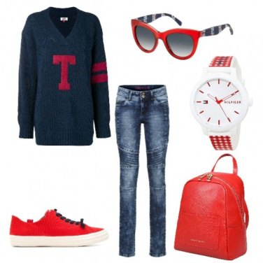Outfit Orologio rosso