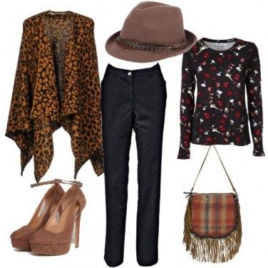 Outfit La mantella trendy