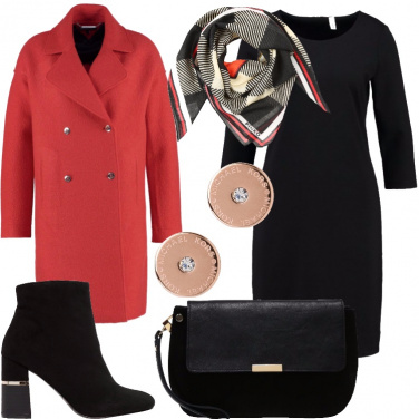 Outfit Rosso eleganza