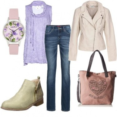 Outfit Delicata in jeans