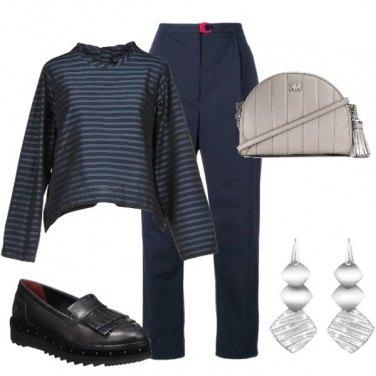 Outfit Di blu vestita