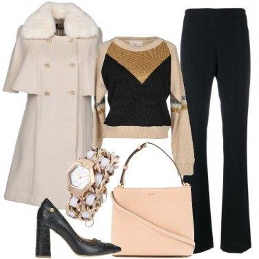 Outfit Nero e beige in ufficio